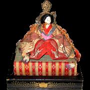 Antique Hina Ningyo Empress Doll with Base - Circa 1870 - 1900