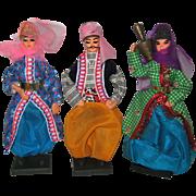 SALE PENDING Three Souvenir Dolls From Turkey - 1978