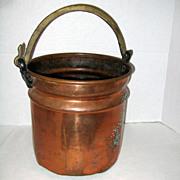 SALE Large Hammered Copper Turkish Ottoman Bucket