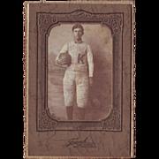 SOLD Photograph of Football Player Circa 1890