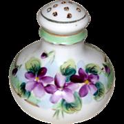 SOLD Single Porcelain Hand Painted Salt Shaker with Violets