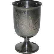 Silver Plated Toothpick Holder with Floral Design, Circa 1910