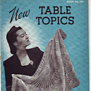 SOLD Crochet Tablecloths  Three Booklets 1938 - 1942