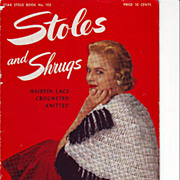 SOLD 1953 Pattern Booklet Shrugs and Stoles
