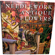 SALE Needlework Antique Flowers - Elizabeth Bradley 1993