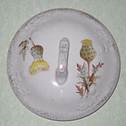 Small Victorian Chamber Pot Lid with Thistle Design