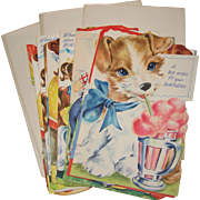 Box with Eleven Children's Greeting Cards, Circa 1945 - 1950