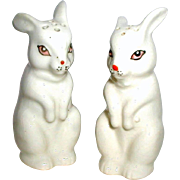 SALE 1950's Japan Ceramic Bunny Rabbit Salt and Pepper Shakers