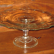 Indiana Glass Teardrop Pattern Pedestal Cake Stand