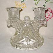 "Federal Glass ""Wigwam"" Depression Glass Candle Holder"