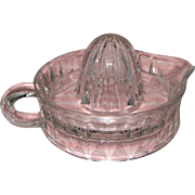 Federal Glass Clear Footed Reamer or Citrus Juicer