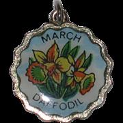 Fritz Reu March Daffodil Silver-plated Flower Charm