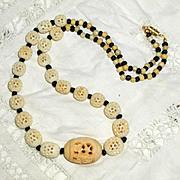 "SALE Carved Bone ""Simple Beauty"" Necklace"