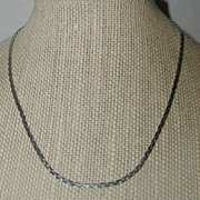 SALE Monet Classic Silver-tone Flat Chain Necklace