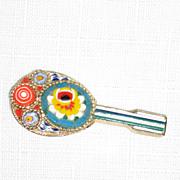 SALE Italian Mosaic Mandolin Pin