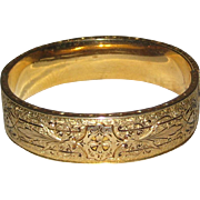 SALE Hayward 10K Gold Filled Taille d'Epargne Bangle Bracelet - Circa 1900