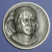 SALE Florida Silver Statehood Medal - Osceola