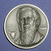 SALE Utah Silver Statehood Medal - Brigham Young
