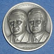 SALE Minnesota Silver Statehood Medal - Mayo Brothers