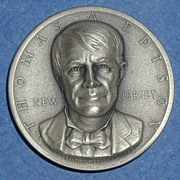 SALE New Jersey Silver Statehood Medal - Thomas Edison