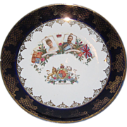 1901 Edward VII Royal Coronation Commemorative Plate