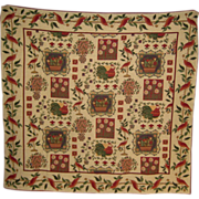 Large Woven Flemish Tapestry in French Provincial Style