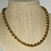 "SALE Monet Classic 15"" Gold-tone Twisted Rope Chain Necklace"