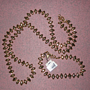 SALE Monet Gold-Tone Necklace and Bracelet Set