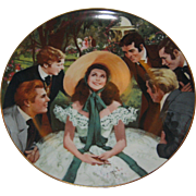 1988 Gone With the Wind Golden Anniversary Collector Plate - Scarlett and Her Suitors