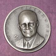 SALE Silver Presidential Medal - Dwight D. Eisenhower