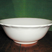 """Perfection"" White Granite Ironstone Bowl"