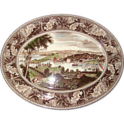 "Johnson Brothers ""Historic America"" 14"" Oval Washington D.C. Transferware Platt"