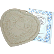 "Brown Bag Cookie - ""Victorian Heart"" Mold, Marked 1985"