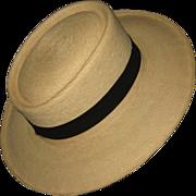 Handwoven Guatemalan Palm Leaf Hat Size 55