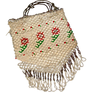 1920's Beaded Purse with Fringe in Need of TLC