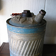 SALE Decorative Tin Kerosene Can