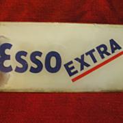 Esso Extra-Gasoline Pump-Glass-Face Plate Insert