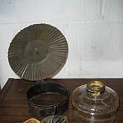Oil Lamp with Primitive Strap Bracket