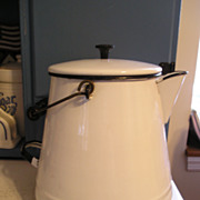 SALE Enameled Graniteware Kettle