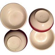 Buffalo China Pottery:Berry Bowls:Raspberry Mist