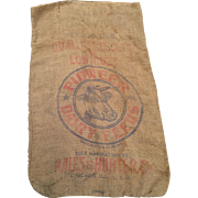 Burlap Feed Sack-Dairy Advertising