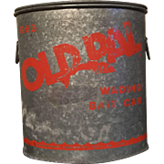 "Galvanized ""Old Pal"" Bait Bucket"