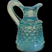 Opalescent Blue Glass Cruet-Hobnail Pattern