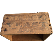 Magic Yeast Jointed Wood Advertising Box