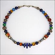 Exotic Gemstone & Silver Artesan Necklace