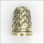 SOLD English 1911 Sterling Silver Thimble - CHARLES HORNER