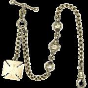 European Circa 1900 Silver Maltese Cross Albertina