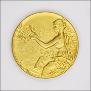 Belgian Circa 1910-1920 Gold Washed Medal - Agriculture and Animals