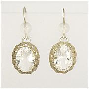Swedish Silver & Rock Crystal Drop Earrings