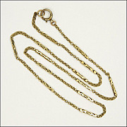 "9K Decorative Link Chain Necklace -19"" - 4.8 grams"